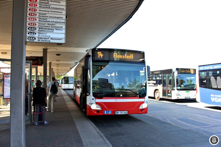 Die Harburger Busumsteigeanlage hat ihre Kapazitätsgrenze erreicht. Eine Vergrößerung des ZOBs ist bereits in Planung.