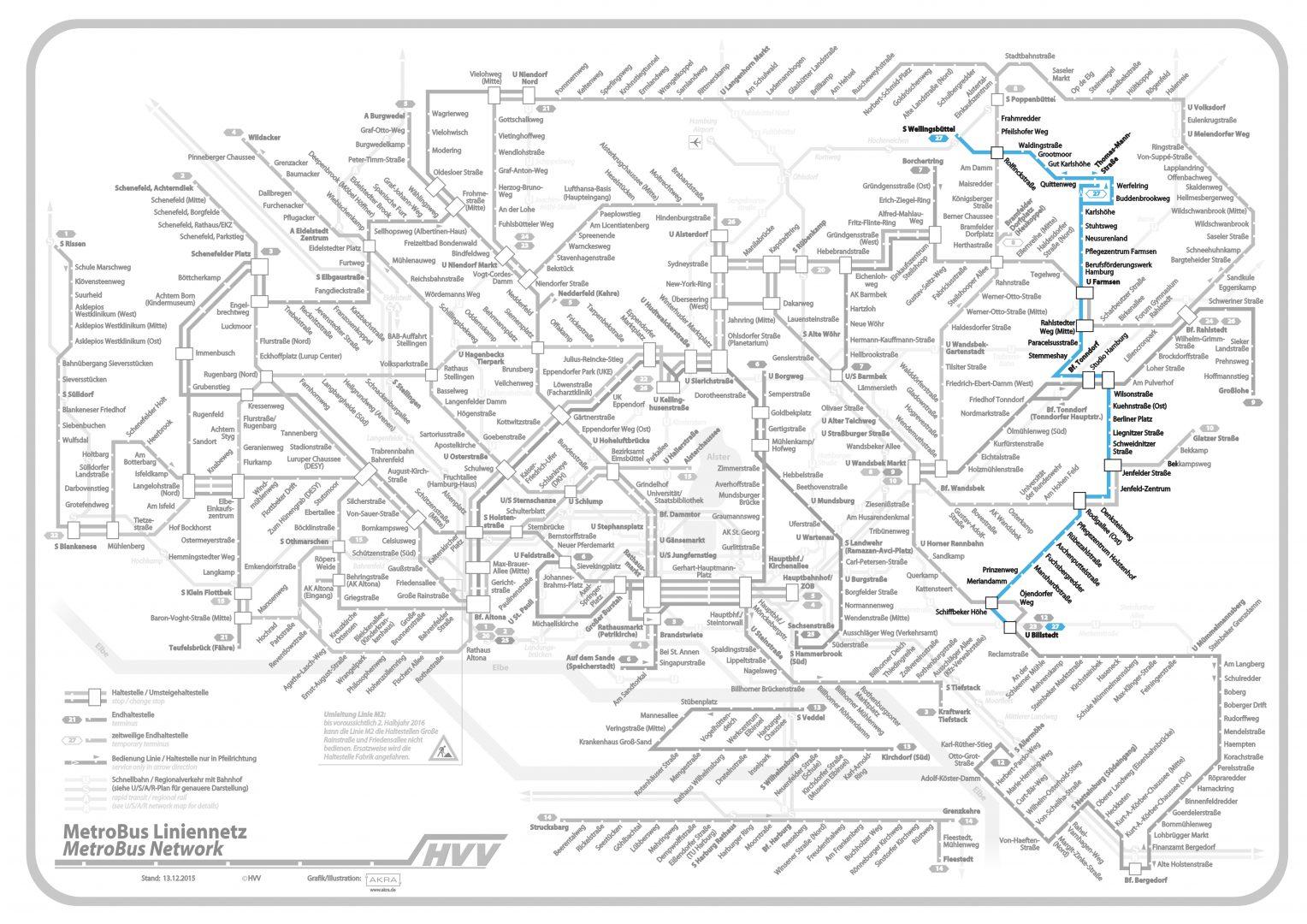 Linie 26 im Liniennetz hervorgehoben, (c) Hamburger Verkehrsverbund (bearbeitet)