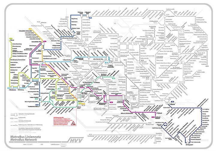 Die farbig hervorgehobenen Linien zeigen diejenigen, für die die VHH die Konzessionen besitzt.
