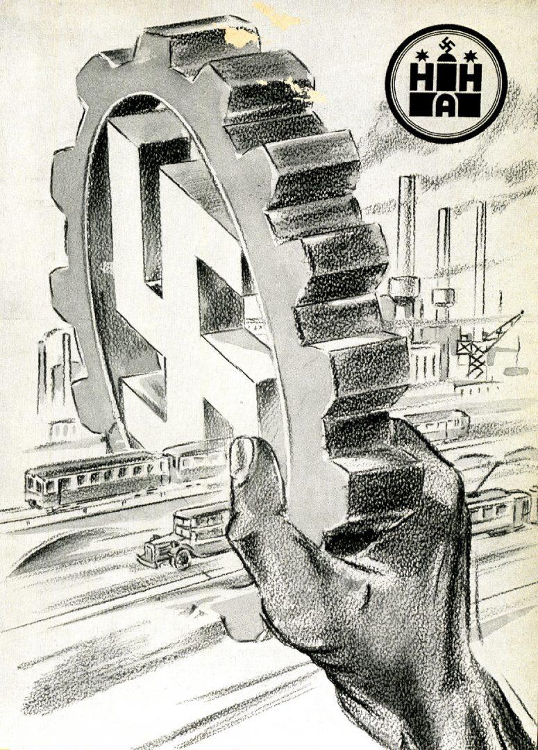 Der Nationalsozialismus hatte alles fest in seiner Hand - auch den Nahverkehr. Aus: Stirn und Faust, Mitarbeiterzeitschrift der HHA vom 30.01.1937
