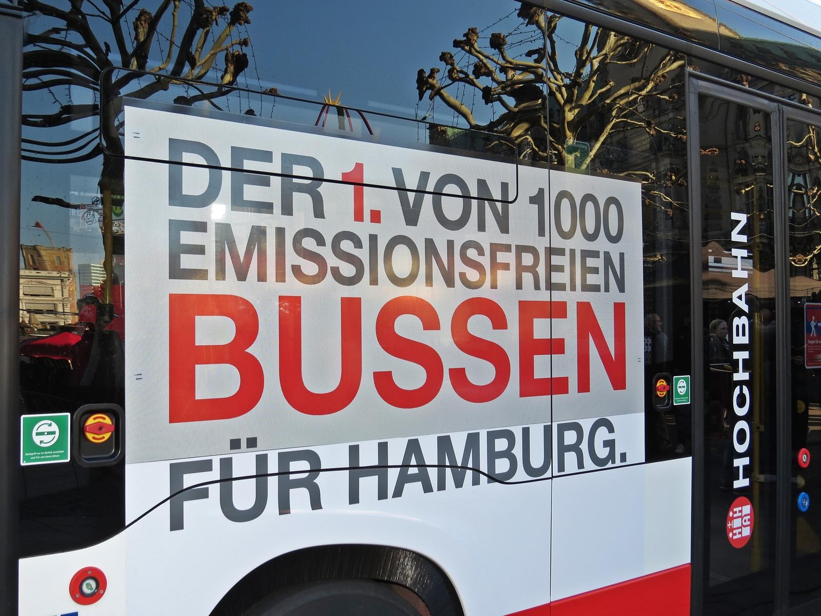 Über 1000 emissionsfreie Busse sollen durch Hamburg fahren. Bei dem eCitaro handelt es sich um das erste Serienfahrzeug.